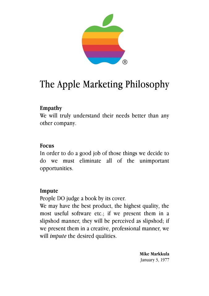 apple marketing philsophy